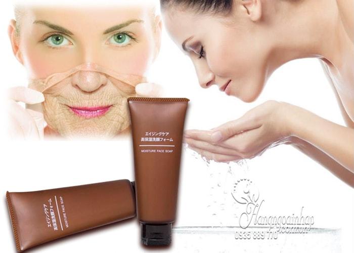 Sữa rửa mặt chống lão hóa Muji Moisture Face Soap 100g
