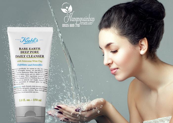 Sữa rửa mặt Kiehl's Rare Earth Deep Pore Daily Cleanser của Mỹ 150ml