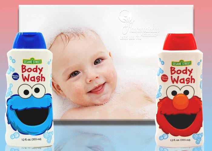 Sữa tắm cho bé Sesame Street Body Wash của Mỹ