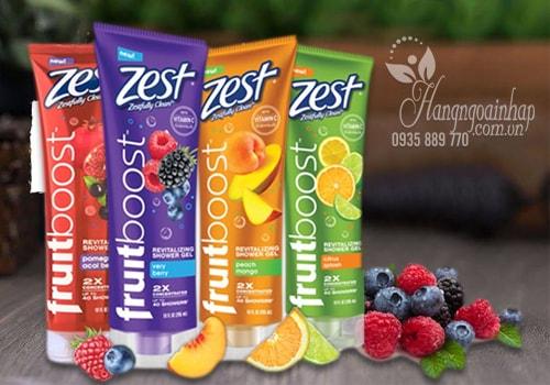 Sữa Tắm Zest Fruitboost Revitalizing Shower Gel Của Mỹ 295ml