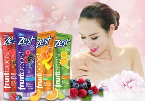 Sữa Tắm Zest Fruitboost Revitalizing Shower Gel 295ml của Mỹ