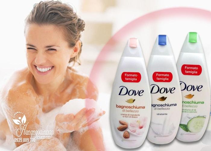 Sữa tắm dưỡng ẩm Dove Bagnoschiuma của Mỹ