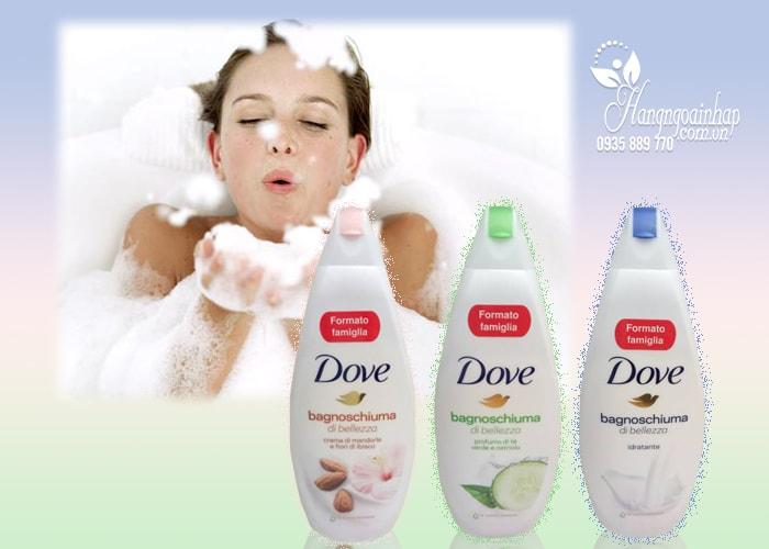 Sữa tắm dưỡng da Dove Bagnoschiuma 700ml của Mỹ