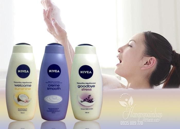 Sữa tắm Nivea 750ml của Đức - Cho làn da trắng mịn màng