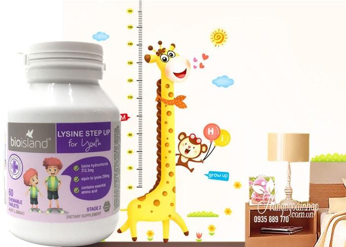 Viên uống tăng chiều cao cho bé Bio Island Lysine Step Up For Youth