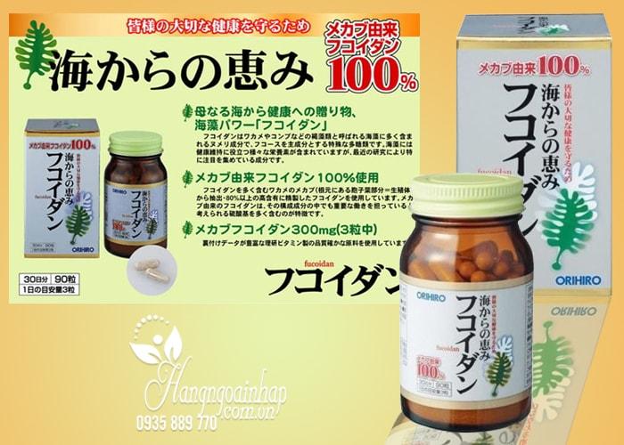 Tảo Fucoidan Orihiro 90 viên của Nhật Bản – Hỗ trợ điều trị ung thư