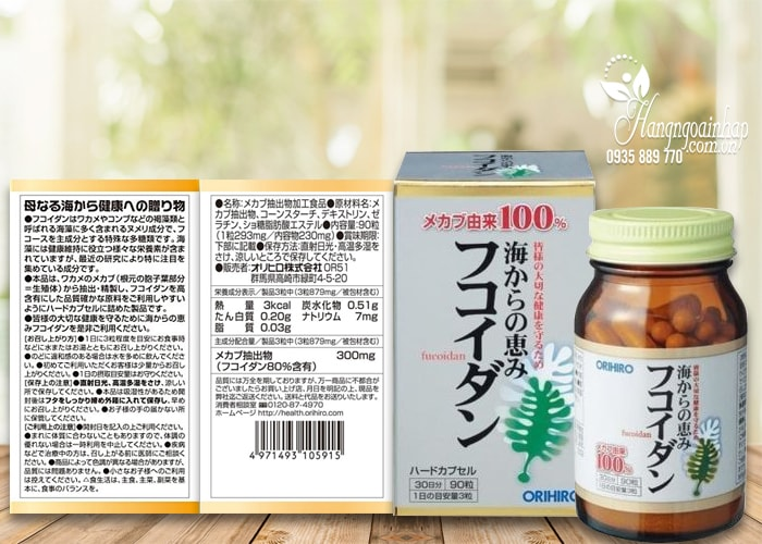 Tảo Fucoidan Orihiro 90 viên của Nhật – Hỗ trợ điều trị ung thư