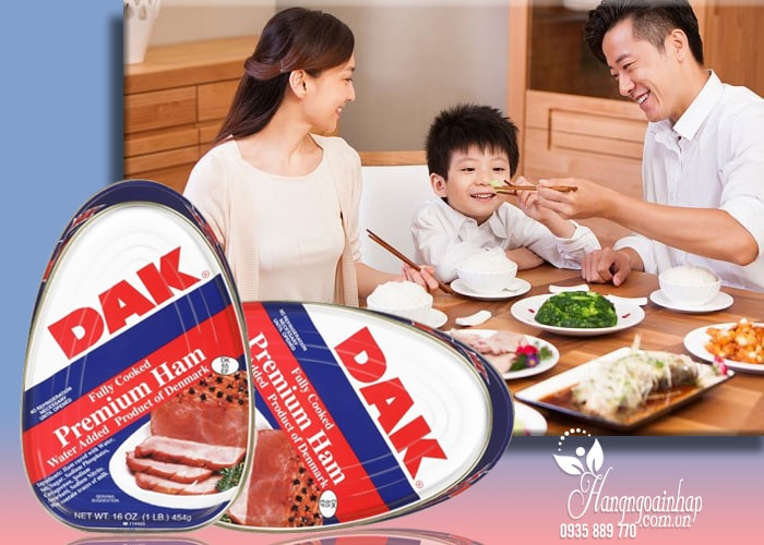 Thịt hộp cao cấp Dak Premium Ham của Mỹ 454g