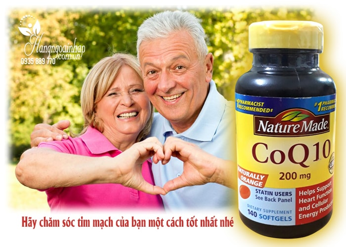 thuốc bổ tim mạch CoQ10 Nature Made 200mg