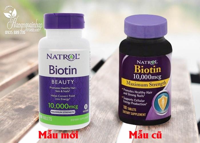 Thuốc Chống Rụng Tóc, Mọc Tóc Biotin  Natrol Của Mỹ 10000mcg