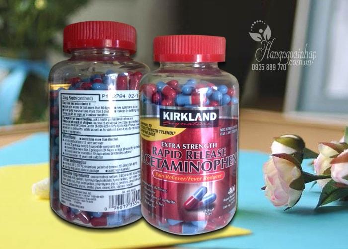 Thuốc giảm đau Kirkland Extra Strength Acetaminophen 500mg