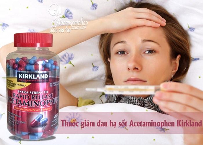Thuốc giảm đau Kirkland Extra Strength Acetaminophen 500mg của mỹ