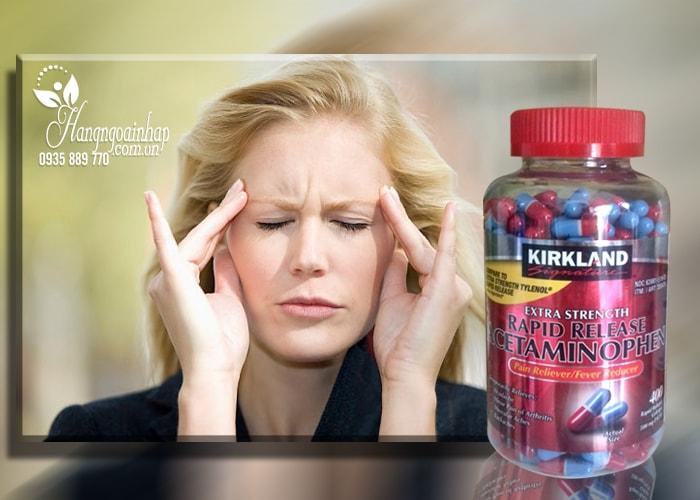 Thuốc giảm đau Kirkland Extra Strength Acetaminophen 500mg 400 viên