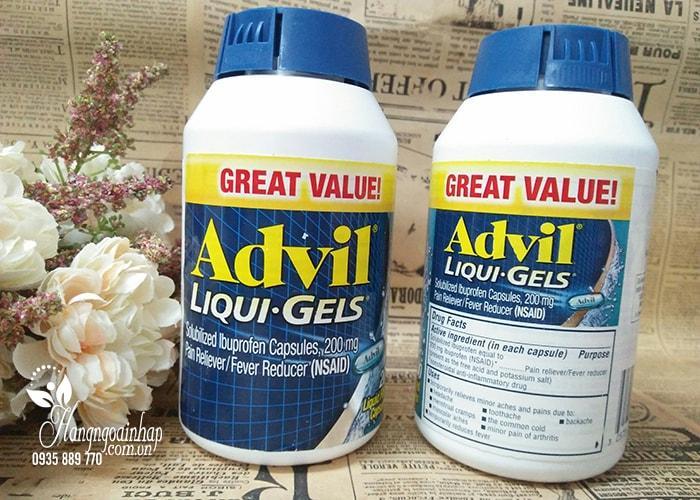 Viên uống giảm đau Advil Liqui Gels 200mg hộp 200 viên