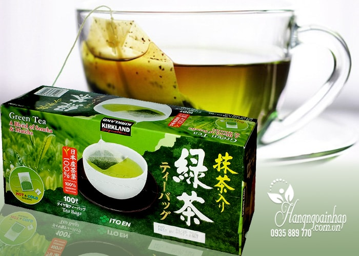 Trà xanh KirkLand Green Tea A Blend Of Sencha & Matcha