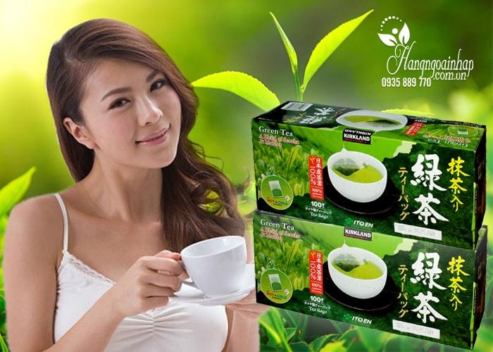 Trà xanh KirkLand Green Tea A Blend Of Sencha & Matcha 100 gói của mỹ
