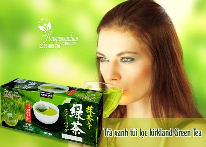Trà xanh KirkLand Green Tea A Blend Of Sencha & Matcha của mỹ