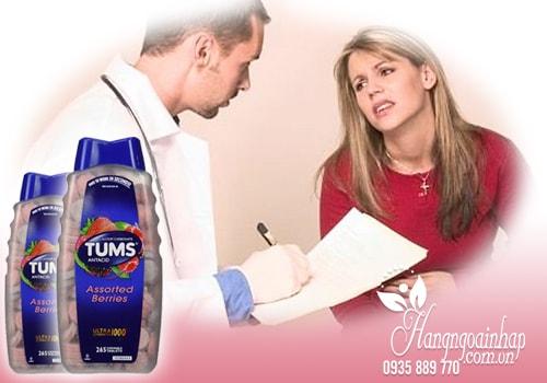 Viên nhai điều trị đau dạ dày Tums Assorted Berries 265 viên của Mỹ