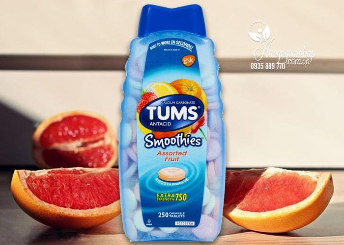 Viên nhai điều trị đau dạ dày Tums Extra Strength 750 của Mỹ 250 viên