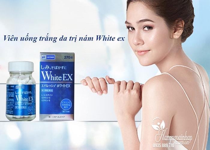 Viên uống trắng da trị nám White EX 270 viên