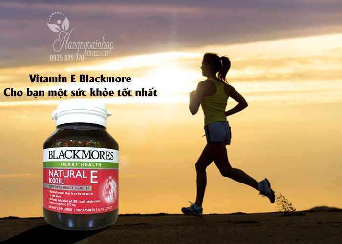 Blackmore Natural Vitamin E 1000IU 30 viên của Úc
