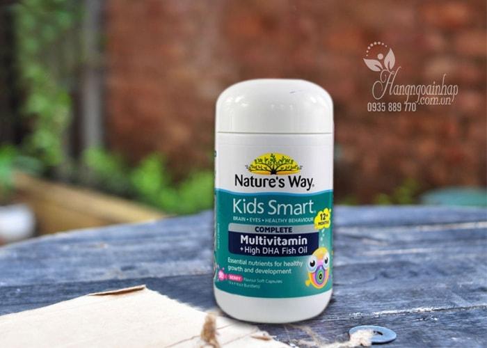 Vitamin tổng hợp và dầu cá cho bé Nature's Way Kids Smart 50 viên