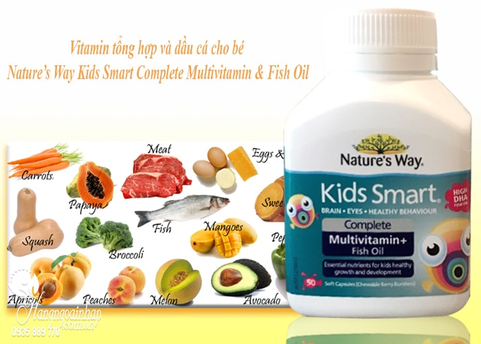 Nature's Way Kids Smart Complete Multivitamin, High DHA Fish Oil