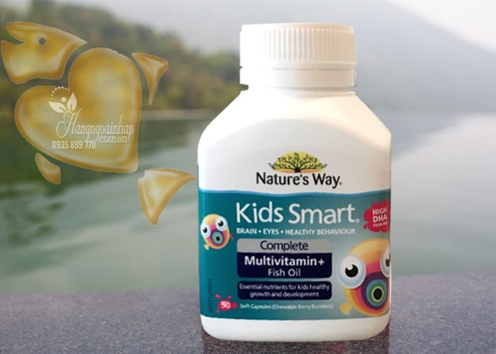 Nature's Way Kids Smart Complete Multivitamin, High DHA Fish Oil 50 viên