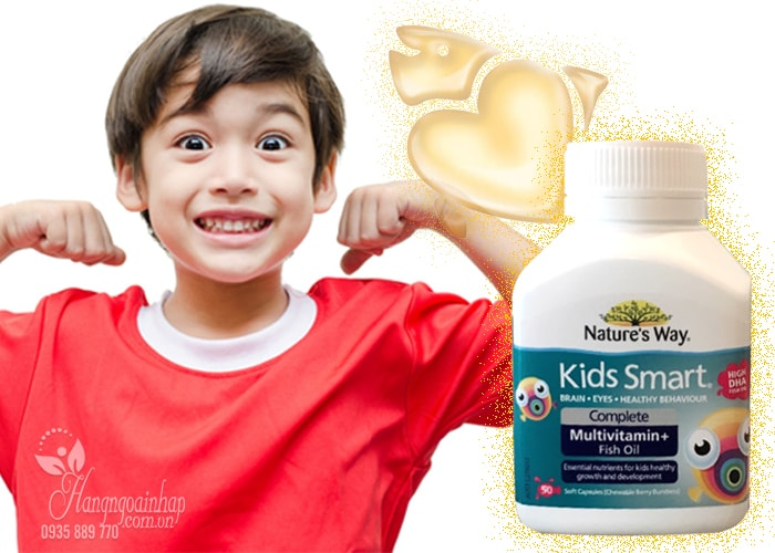 Nature's Way Kids Smart Complete Multivitamin, High DHA Fish Oil của Úc