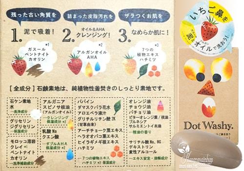 Xà phòng trị mụn đầu đen Dot Washy Facial Social của Nhật Bản