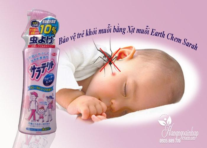 Xịt chống muỗi cho bé Earth Chem Sarah 200ml của Nhật Bản