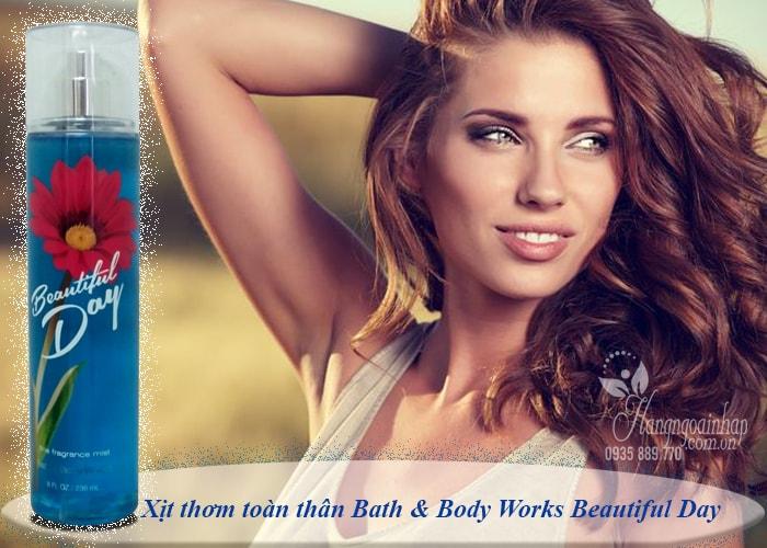 Xịt thơm toàn thân Bath & Body Works Beautiful Day 236ml của nước Mỹ