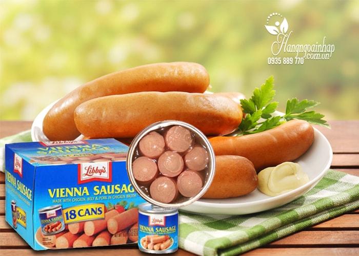 Xúc xích đóng hộp Libbys Vienna Sausage của Mỹ