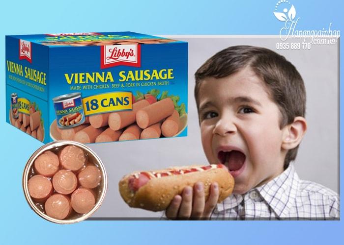 Xúc xích Libbys Vienna Sausage thùng 18 lon của Mỹ