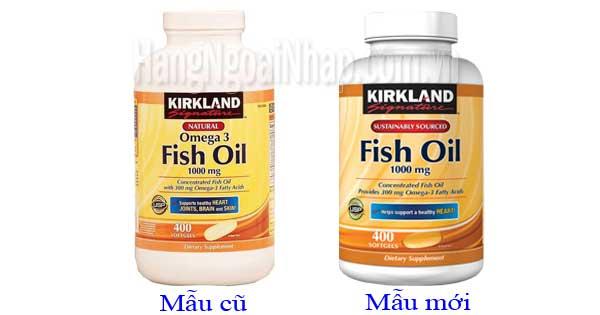 Dầu cá Omega 3 của Mỹ - Omega 3 Fish Oil 1000mg Kirkland
