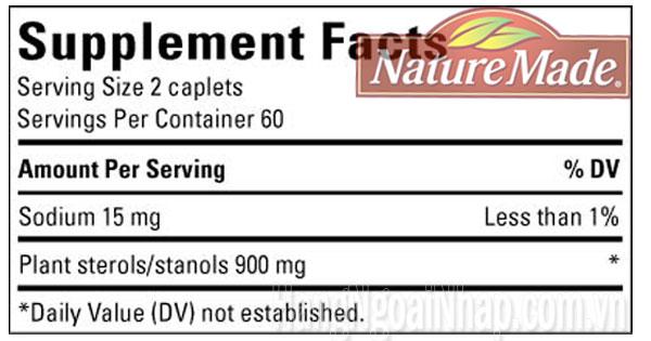 thành phần trong viên giảm cholesterol trong máu