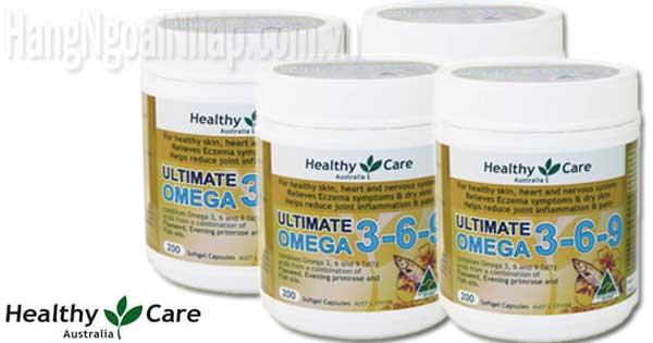 Omega 369 HealthyCare Ultimate Của Úc Hộp 200 Viên