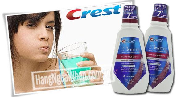 Nước Súc Miệng Làm Trắng Răng Crest 3D White 946ml