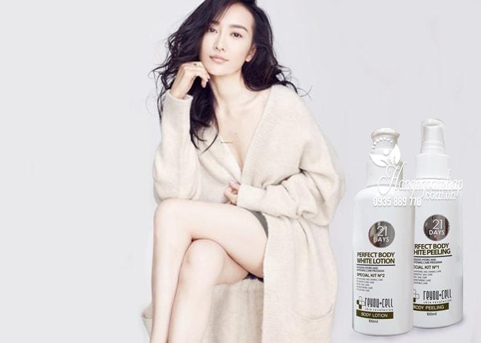 Bộ đôi tắm trắng 21 days Perfect Body White Reyou-cell 100ml 4