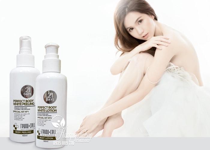 Bộ đôi tắm trắng 21 days Perfect Body White Reyou-cell 100ml 2