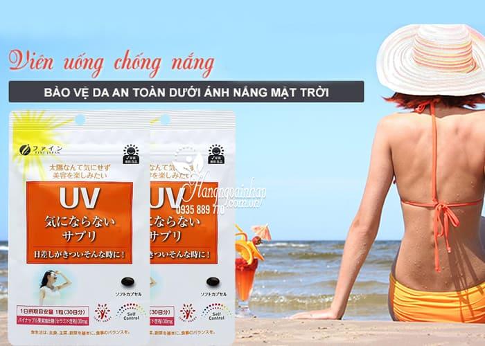 Viên uống chống nắng Fine Japan UV gói 30 viên Nhật Bản 3