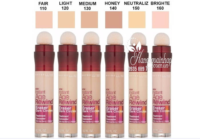 Kem che khuyết điểm Maybelline Instant Age Rewind của Mỹ 3