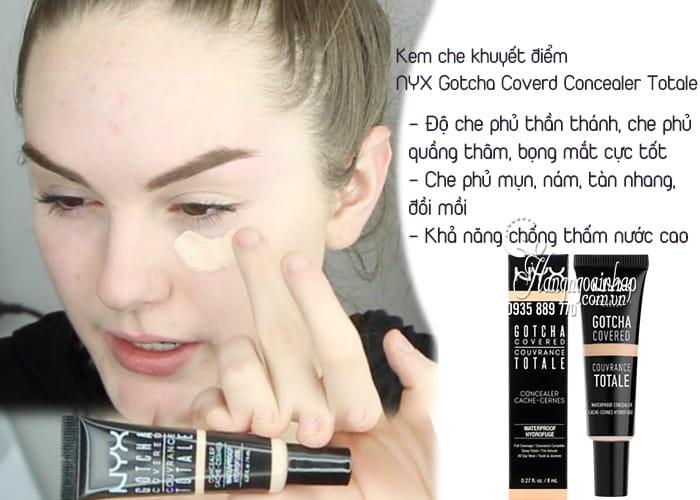 Kem che khuyết điểm NYX Gotcha Coverd Concealer Totale 8ml 1