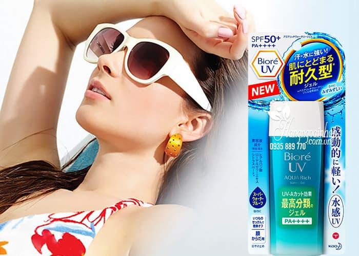 Kem chống nắng Biore UV Aqua Rich Watery Gel 90ml mẫu mới 4