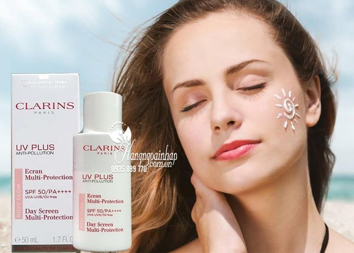 Kem chống nắng Clarins UV Plus Anti-Pollution Rosy Glow Pháp 2