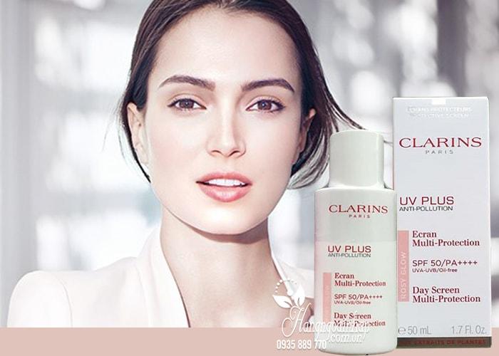 Kem chống nắng Clarins UV Plus Anti-Pollution Rosy Glow Pháp 4