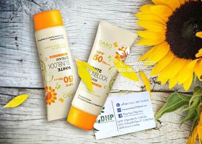 Kem chống nắng Dabo White Sunblock Cream SPF 50 PA+++ của Hàn Quốc