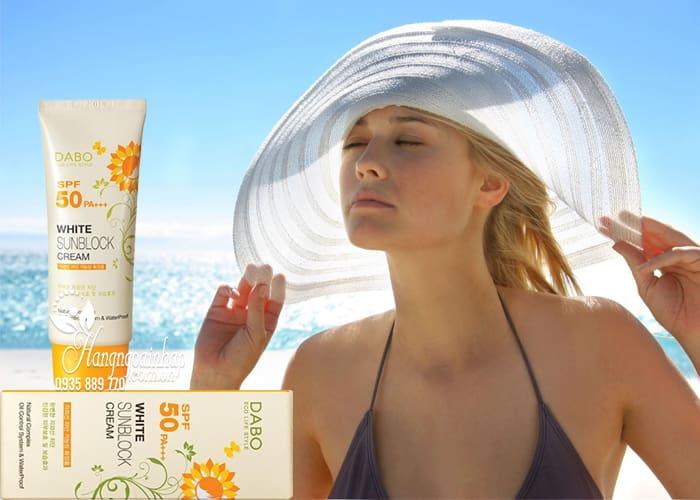 Kem chống nắng Dabo White Sunblock Cream SPF 50 PA+++ dành cho da hỗn hợp thiên khô