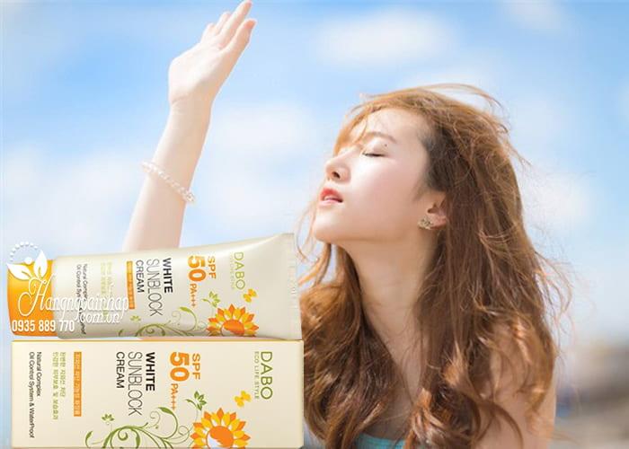 Kem chống nắng Dabo White Sunblock Cream SPF 50 PA+++ bảo vệ da hoàn hảo