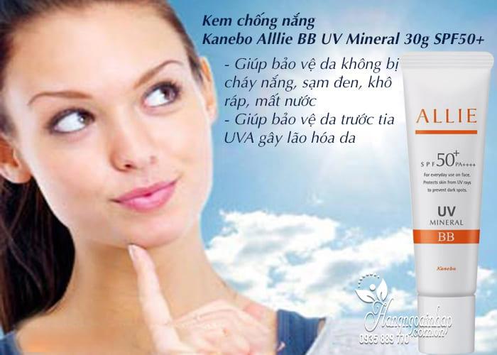 Kem chống nắng Kanebo Alllie BB UV Mineral 30g SPF50+ 4